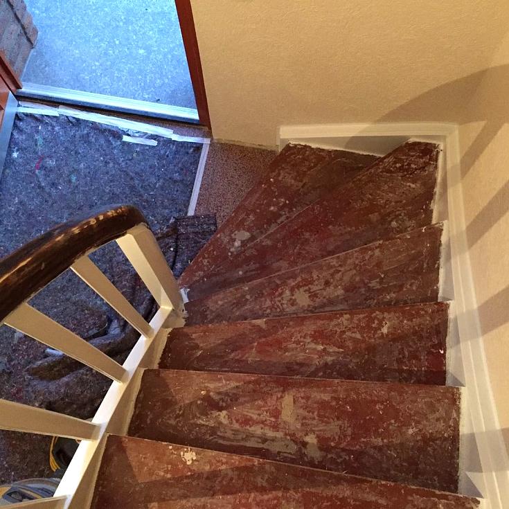Treppe mit altem Lack