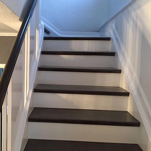 Treppenrenovierung mit Farbangleich
