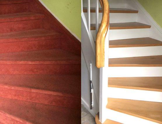 Treppenrenovierung Vorher-Nachher 4
