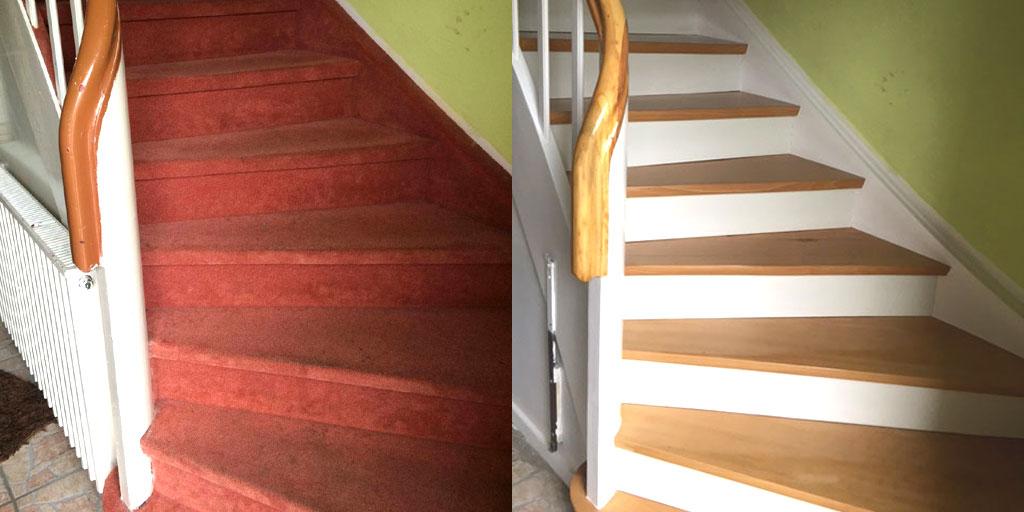 treppenrenovierung vorher nachher nr 4 parkett remel in. Black Bedroom Furniture Sets. Home Design Ideas