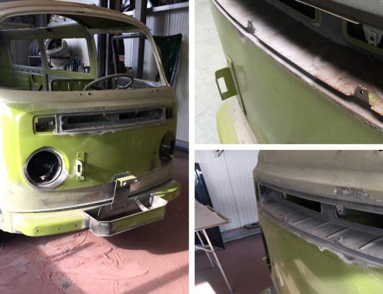 Parkett Remel entfernt Rost bei einem VW T2