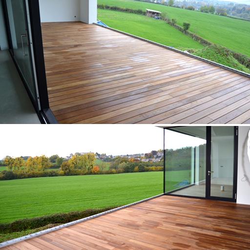 Terrasse aus Holzdielen von Parkett Remel