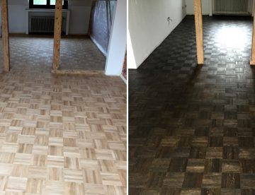 Farbe für Parkett und Dielen: Holzboden einfärben