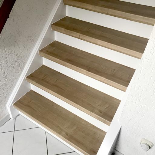 Alte Treppe mit Laminat renovieren in Bochum