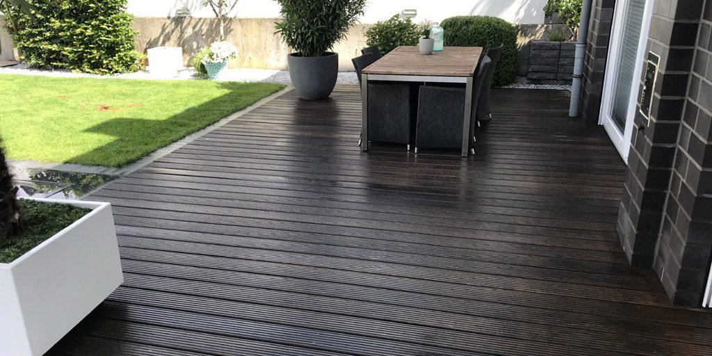 Mit Öl beschichtete Terrasse